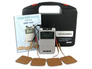 Dual Channel EMS Unit - EMS-7500, 3 Mode Muscle Stimulator
