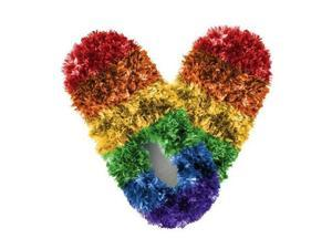 Red Carpet Studios 60098 Fuzzy Footies - Ladies - Rainbow