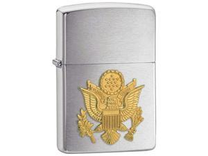 BNF 280ARM Zippo Lighter Army Emblem Brushed Chrome