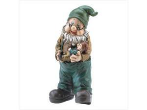 "SWM 39693 5"" Dia. x 10"" H Grandpa Garden Gnome - Fiber Glass and Resin"