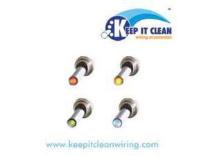 Keep It Clean SW24Y All Metal Toggle Switch With Led - Yellow 20a/12v