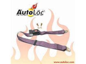 Autoloc SB2PPL 2 Point Plum Purple Lap Seat Belt (1 Belt)