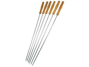 Onward Grill Pro 6 Piece 22in. Chrome Deluxe Skewers  40538