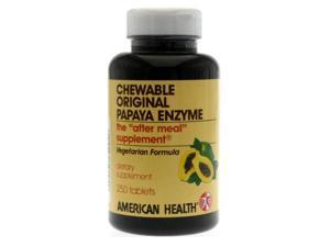 Original Papaya Enzyme - American Health Products - 250 - Chewable