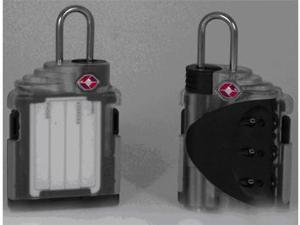 TSA Certified Travel Locks with clear ID tag back Set of 2