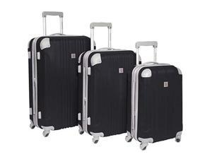 Travelers Choice BH6800G Beverly Hills Country Club Malibu 3-Piece Hardside Spinner Luggage Set - Gray