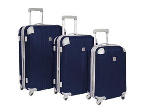 Travelers Choice BH6800N Beverly Hills Country Club Malibu 3-Piece Hardside Spinner Luggage Set - Navy