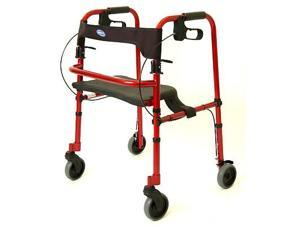 Invacare 65100 Rollite Rollator - Electric Red Color - 300lb Capacity