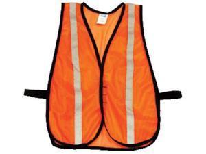 North Safety 068-TV15RSC Hi-Viz Orange Traffic Vest Velcro Closure 1 Inch