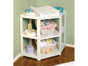Badger Basket 02205 White Diaper Corner Baby Changing Table