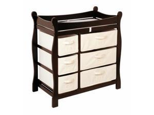 Badger Basket Sleigh Style Changing Table with Six Baskets