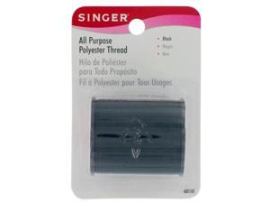 Singer 150 Yards Black All Purpose Polyester Thread  60110 - Pack of 3