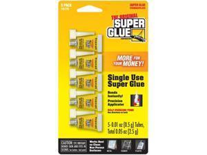 Super Glue Corp. 15175-12 Super Glue Single Use Minis- 12 Packs of 5 each