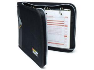 RoadPro LB-001BK 3-Ring Binder for Loose-Leaf Log Sheets - Black Zippered 10.5 x 8.5