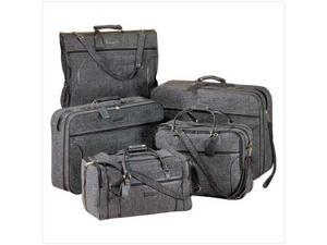 SWM 21943 5Pc Gray Travel Bags Luxurious Vacation Luggage Set