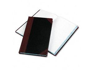 Record/Account Book Black/Red Cover 300 Pages 14 1/8 x 8 5/8