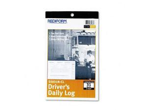 Rediform S5031NCL Driver's Daily Log  5-3/8 x 8-3/4   Carbonless Duplicate  31 Sets/Book