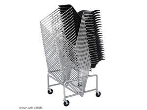 Safco 4190SL Silver Sled Base Stack Chair Cart