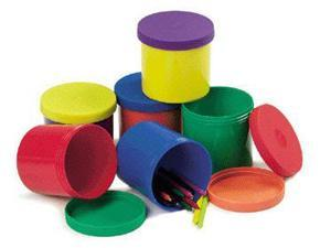"ROYLCO INC. R-5702 4"" Round x 4"" Deep Colorful Containers"