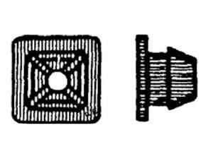 W & E Sales Co WE818 License Plate Nut - Plastic