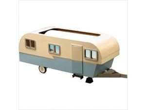 "Greenleaf 9311 9"" x 23"" x 8"" White Blue Wood Trailer Doll House Kit"