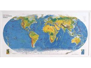 American Educational 434 World Geo-Physical Map