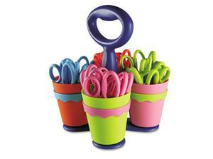 "Westcott 14755 Scissor Caddy with 24 5"" Length Kids' Pointed Scissors- Assorted"