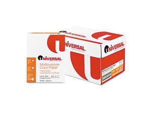 Universal 28230 Bulk Three-Hole Office Paper  92 Brightness  20lb  Letter  5000 Sheets/Carton