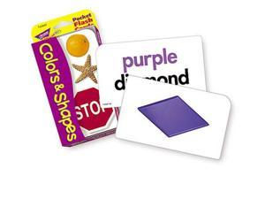 TREND ENTERPRISES INC. T-23007 POCKET FLASH CARDS COLORS & SHAPES 3 X 5 56 TWO-SIDED CARDS