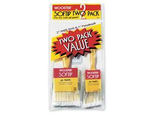 Wooster Brush Softip 2 Pack Value Paint Brushes 5971