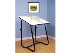 Tech Drafting Table with Black Base by Studio Designs