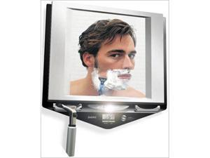 Zadro Fogless Lighted Shower Mirror with Clock Model No. Z700SS