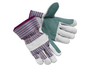 Crews 1211XL Economy Leather Palm Gloves, Extra Large, Striped