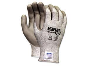 Crews 9672M Memphis Dyneema Polyurethane Gloves, Medium, White/Gray