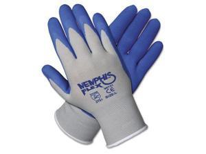 Crews 96731L Memphis Flex Seamless Nylon Knit Gloves, Large, Blue/Gray, 1 Pair