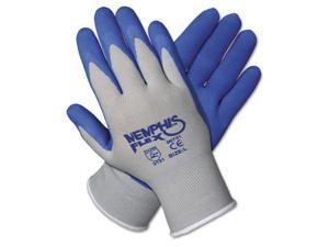 Crews 96731S Memphis Flex Seamless Nylon Knit Gloves, Small, Blue/Gray, 1 Pair
