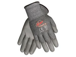 Crews N9677S Ninja Force Polyurethane Coated Gloves, Small, Gray