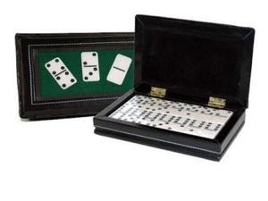 CHH 2530 Double 6 Domino in Black Leatherette case