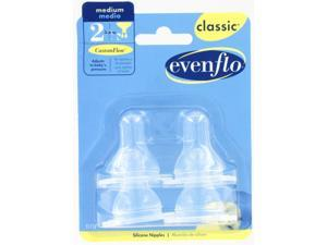 Evenflo Company Classic Medium Flow Clear Silicone Nipples  2115214