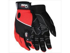 Memphis Glove 127-924L Multi-Task Red Spandex Synthetic Leather With