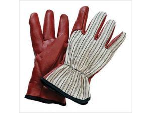 North Safety 068-85/3729L Worknit Cut And Sewn Nitrile Gloves W- Blk Strip