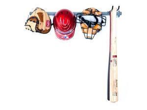 """Monkey Bars MB-28 35''L x 15""""W x 2 3/4''H Small Steel Baseball Rack"""