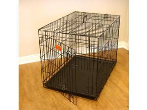 "Majestic Pet 48"" Single Door Folding Dog Crate, Extra Large - 78899501148"