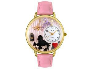 Whimsical Watches G0630007 Dog Groomer Pink Leather And Goldtone Watch