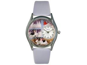 Whimsical Watches S0110008 Bunny Rabbit Baby Blue Leather And Silvertone Watch