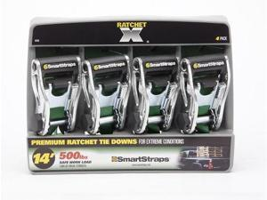 Smart Straps 345 14 ft. 1500 lbs RatchetX 4 Pk Green