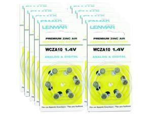 Lenmar Hza10-60 Za10 Premium Zinc Air Hearing Aid Batteries- 60 Pk