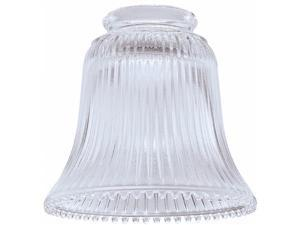 Westinghouse Lighting Clear Ribbed Fan & Fixture Glass 81258 - Pack of 6