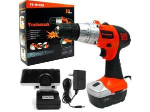 Trademark 18V Cordless Drill with LED Light and extras