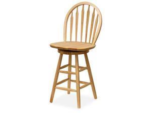 Winsome 89624 Beech Beechwood BAR STOOL WINDSOR 24 Inch ARROW BACK SWIVEL SEAT